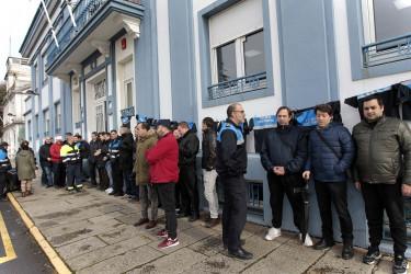 Protesta de los trabajadores de la autoridad portuaria de Ferrol