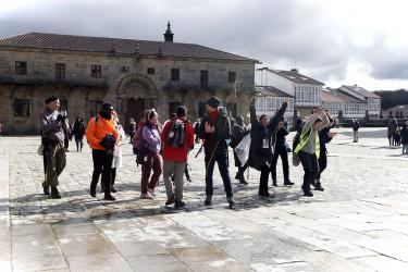 Ambiente de turistas en Santiago de Compostela