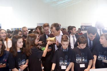 El astronauta Pedro Duque abrió la jornada educativa Stemlab Galicia