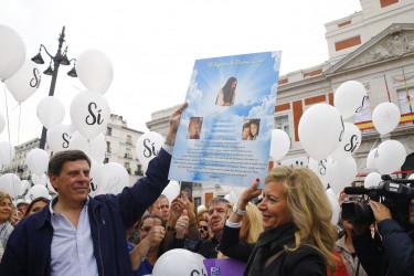 Concentración en Madrid en contra de la derogación de la prisión permanente revisable