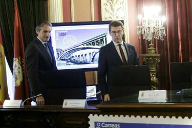 Presentación  Sello centenario Ponte Nova de Ourense