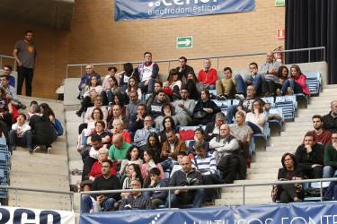 Búsquese en la grada en el partido entre el Obradoiro y el Betis E.Plus