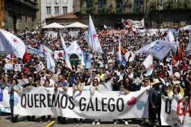 Día das Letras 2018 - Manifestación en Santiago 'En Galicia, en galego'