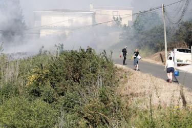 Incendio en Santas Mariñas (Compostela)