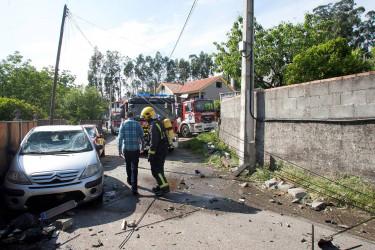 Explosión pirotecnia en Tui