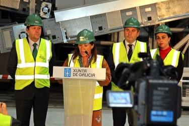 Visita de la conselleira Beatriz Mato a las obras de construcción de una nueva planta en Sogama