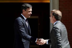 Reunión de Feijóo con Pedro Sánchez