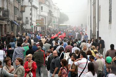 Manifestación dos mestres en Compostela