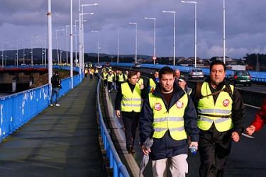 Ferrol inicia la invasión naval de A Coruña
