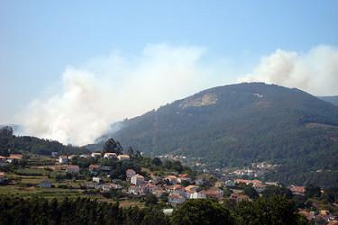 Galicia en llamas. Incendios desde Noia, enviadas por Irene Fernández Barreiro