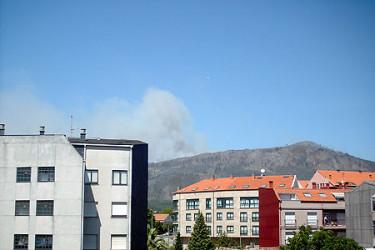 Galicia en llamas. Incendio en A Pobra, enviadas por Miguel A. Conchado Barral