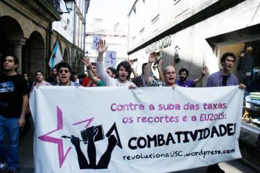 Protesta estudiantil contra los recortes