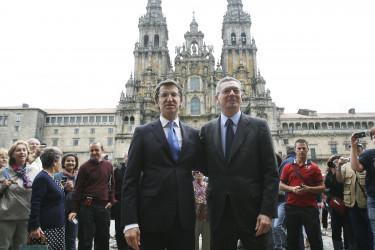 Visita de Ruíz Gallardón a Santiago