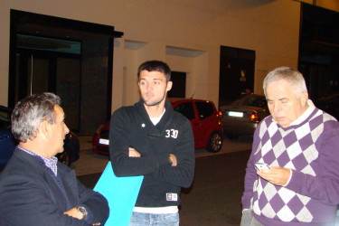 Cena de la SD Compostela en el Restaurante Samarkanda