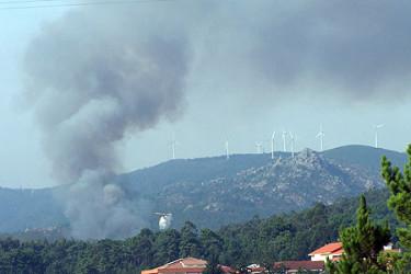 Galicia en llamas. Incendio en Riomaior (Esteiro). Enviadas por Amado Barrera