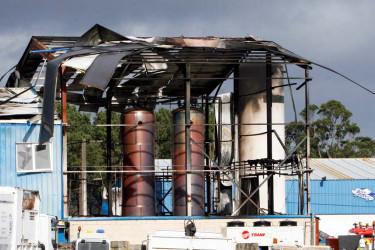 Explosión de una nave industrial en Ferrol