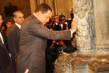 Visita de Chávez a Santiago en 2005