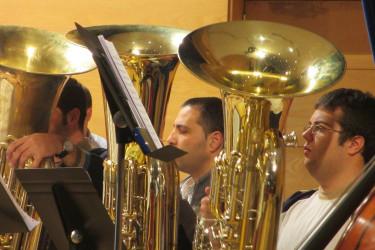 Actividades de colaboración do Conservatorio de Música de Santiago e a Banda Municipal