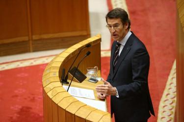 Comparecencia de Feijóo en el Parlamento