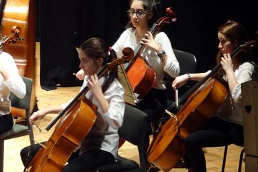 Orquestra e Banda xuvenís do Conservatorio Profesional de Santiago no Teatro Principal