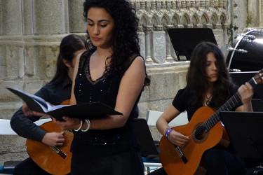 Concerto de Coro e Orquestra Sinfónica do Conservatorio de Santiago en San Domingos de Bonaval