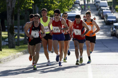 Prueba de atletismo Corresan en Santiago