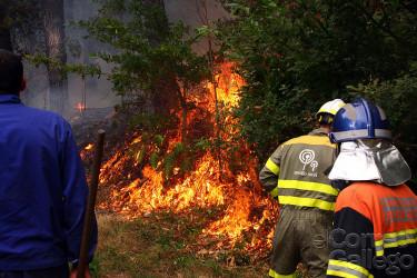 Incendio entre Lousame y Boiro