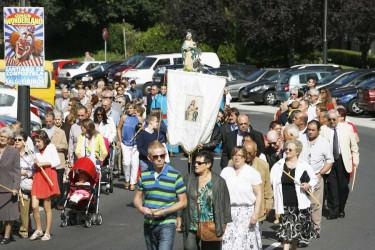 Procesión de Nuestra Señora de Belén, en el compostelano barrio de Vite