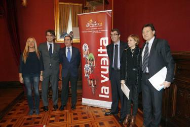 Presentación de la finalización de la Vuelta a España en Santiago