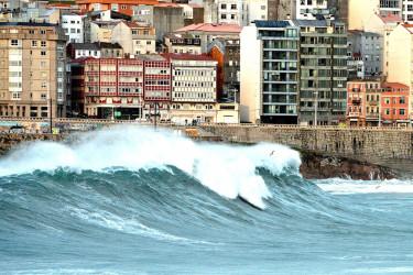 Imágenes del temporal en Galicia