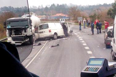 Accidente de tráfico en Teo