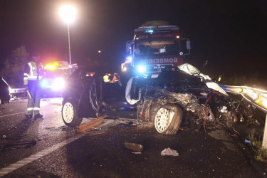 Accidente de tráfico en Vilagarcía