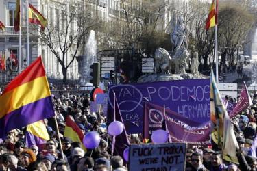 La 'marcha del cambio', manifestación convocada por Podemos en Madrid