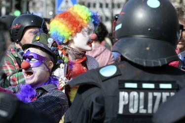 Protestas en Alemania en la inauguración de la sede del BCE