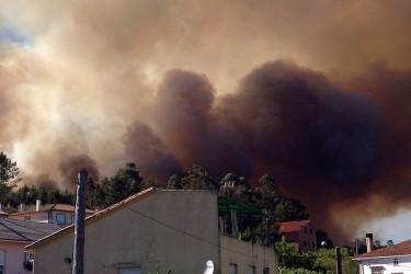 Incendio forestal en Calo
