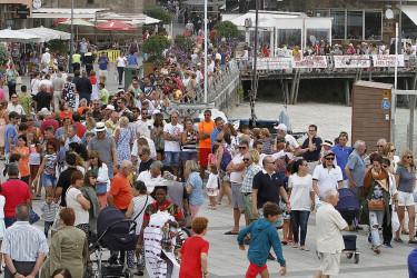 Sardiñada popular en la celebración del Día del Turista, en el marco de las Fiestas de Sanxenxo