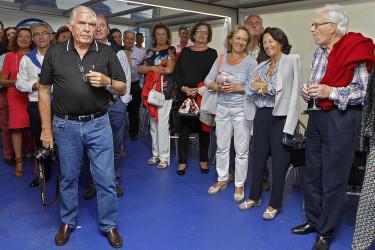 Merienda en el Club de San Vicente do Mar y homenaje a María Asunción Sáenz-Díez.