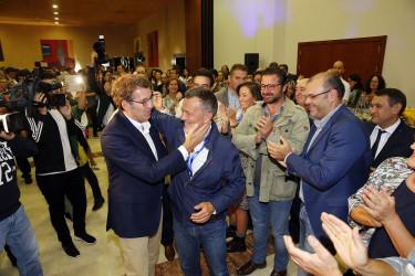 Comparecencia de Feijóo tras ganar por mayoría absoluta (PPdeG)