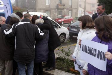 Concentraciones contra los asesinatos machistas ocurridos en Santiago y Vigo