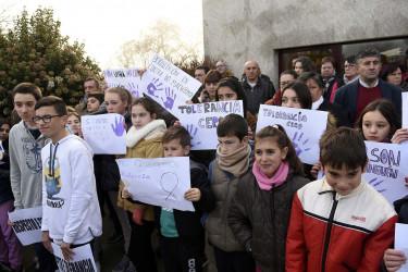Concentración en Boqueixón por los asesinatos machistas en Santiago y Vigo