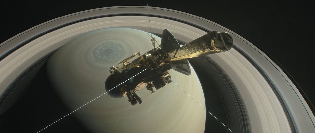 La sonda Cassini sobre el hemisferio norte de Saturno - FOTO: Efe