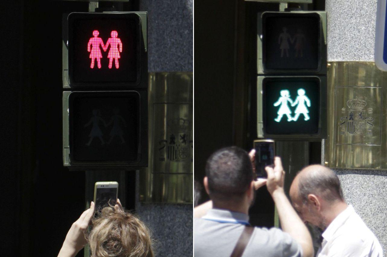 Los nuevos semáforos de Madrid - FOTO: Luis Millán/EFE