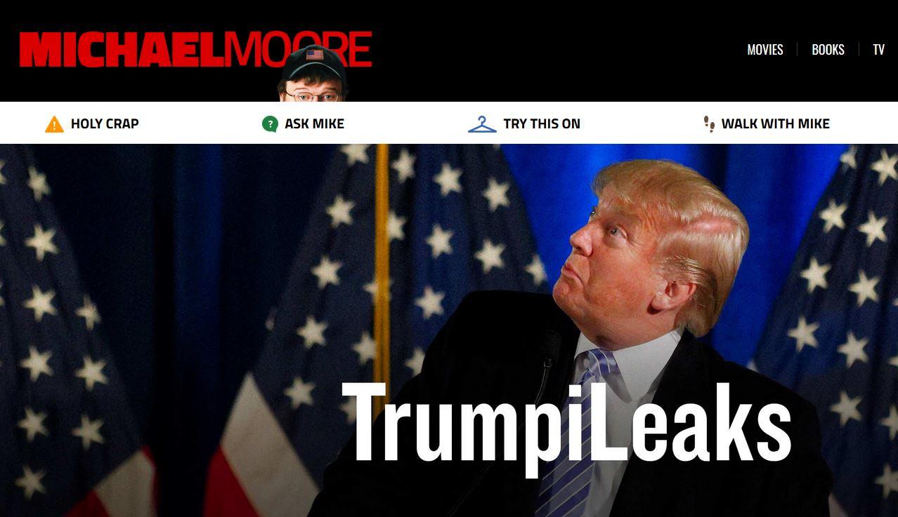Captura de la web creada por Michael Moore - FOTO: TrumpiLeaks