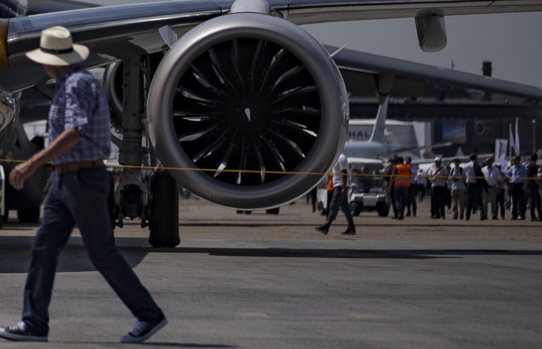 Foto del motor de un avión - FOTO: EFE
