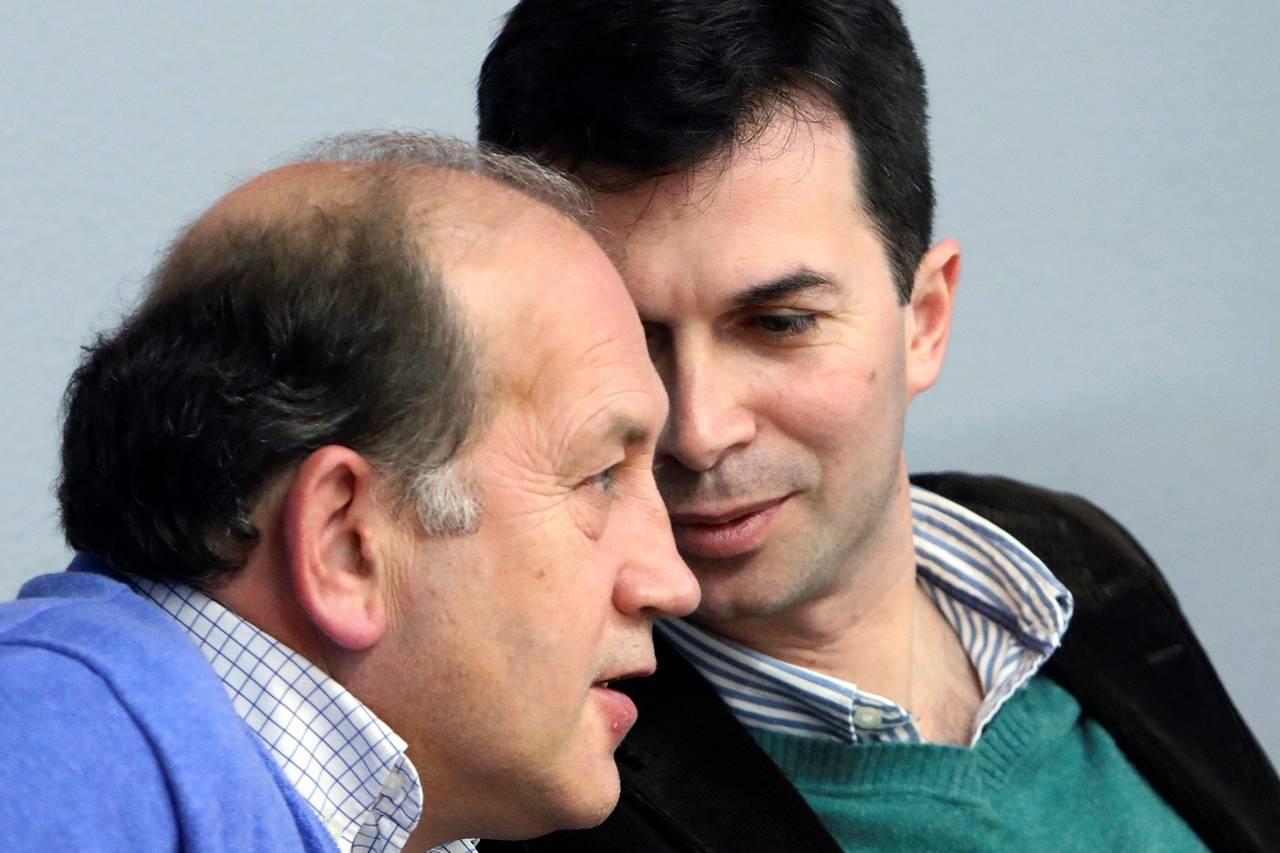 Ldeiceaga y Caballero, ayer en la reunión de la ejecutiva gallega del PSdeG - FOTO: Efe