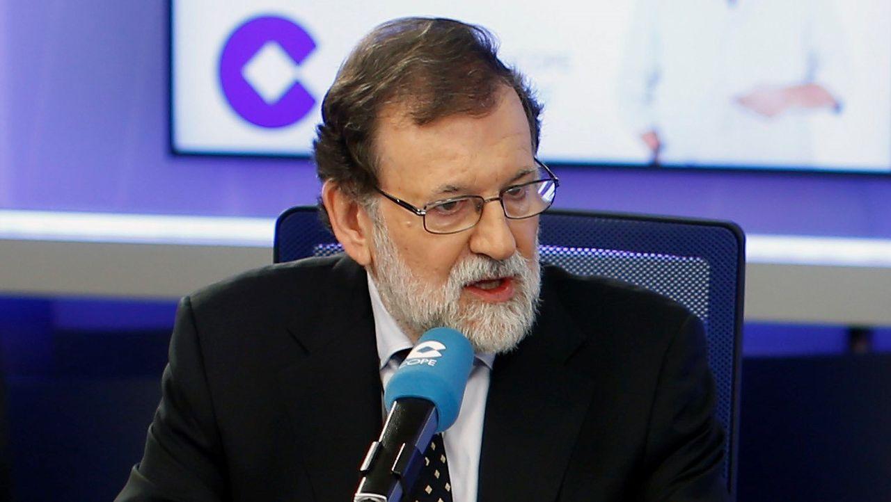 Mariano Rajoy durante la entrevista en la COPE - FOTO: EFE