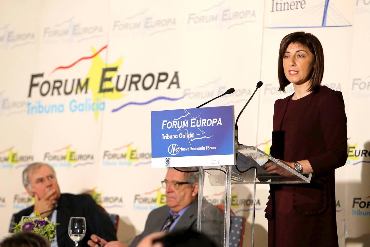 La conselleira de Medio Rural, Ángeles Vázquez, ha sido la protagonista del almuerzo informativo