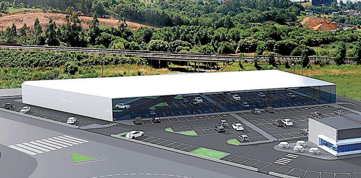 Imagen virtual de la superfcie que se construirá en la zona 1 del proyecto Costa Vella Parque Comercial - FOTO: CVPC