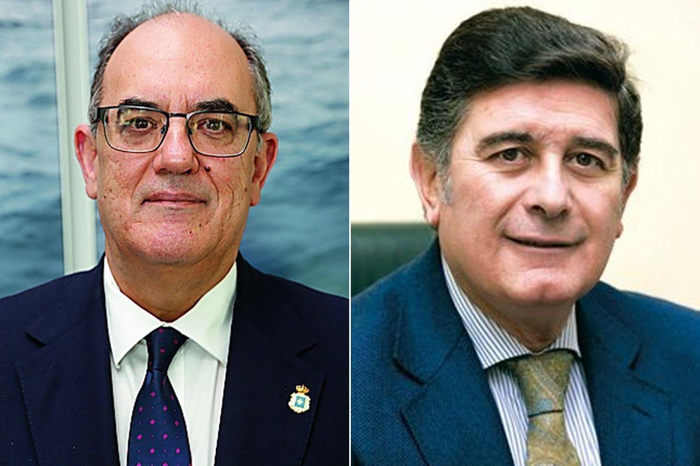 Luis Campos, presidente de A.M.A., a la izquierda, y Manuel Pérez, presidente del Colegio de Farmacéuticos de Sevilla - FOTO: A.M.A.