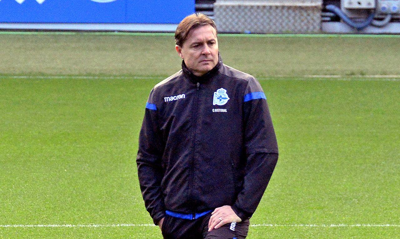 El técnico del Deportivo, Cristóbal Parralo - FOTO: Almara